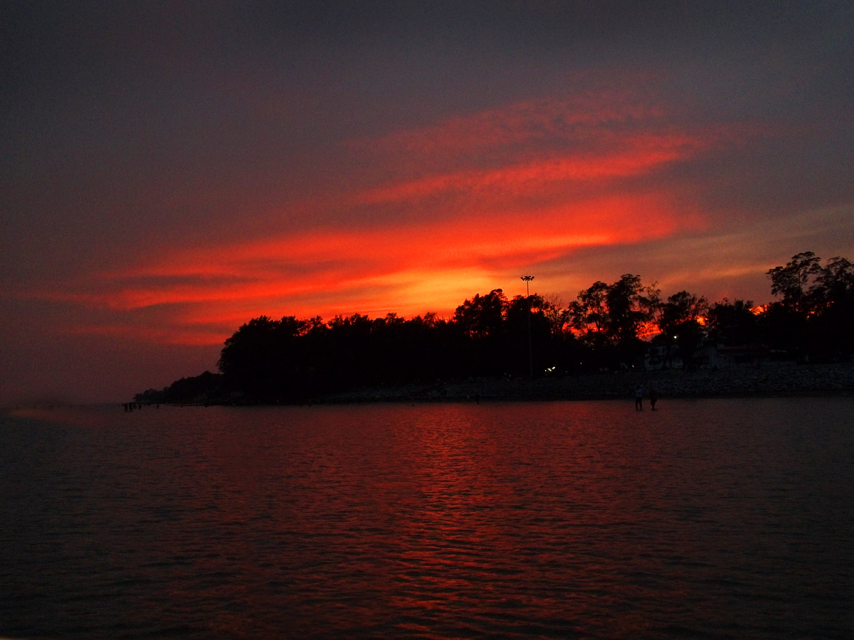 Sunset at Chandipur beach