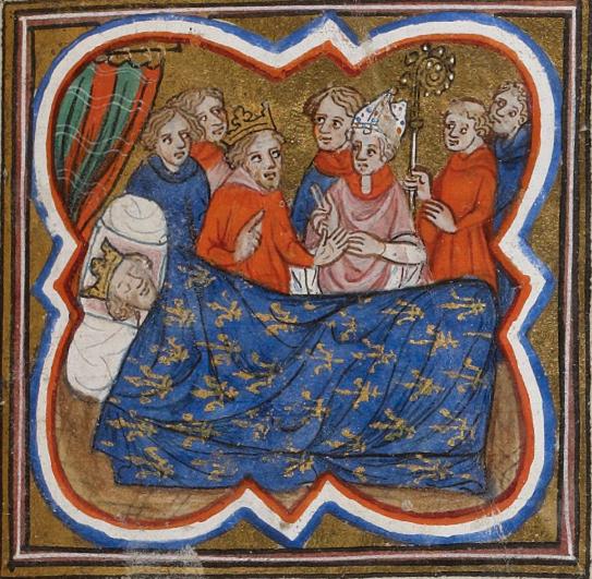 File:Charles d\'Anjou, roi de Sicile, devant le lit d emort de s ...