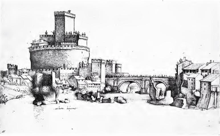 Castel Sant'Angelo ou Chateau Saint Ange à Rome à la renaissance (1495)