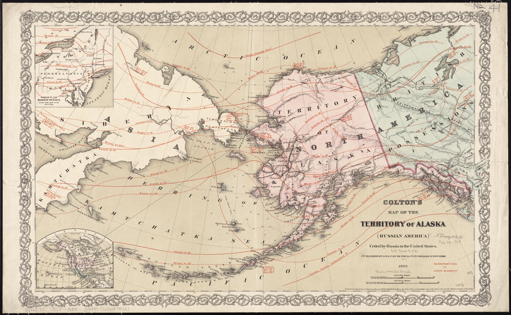 Map Of America 2017.File Colton S Map Of The Territory Of Alaska Russian America