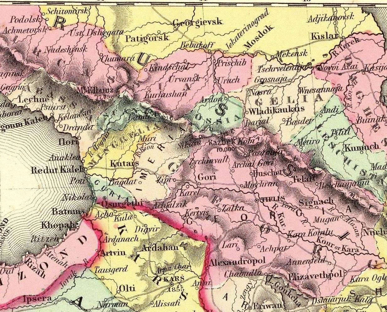 Map Of Georgia In Asia.File Colton G W Turkey In Asia And The Caucasian Provinces Of