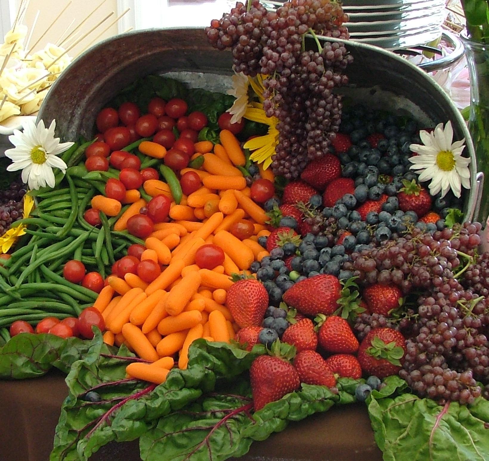 filecornucopia of fruit and vegetables wedding banquet