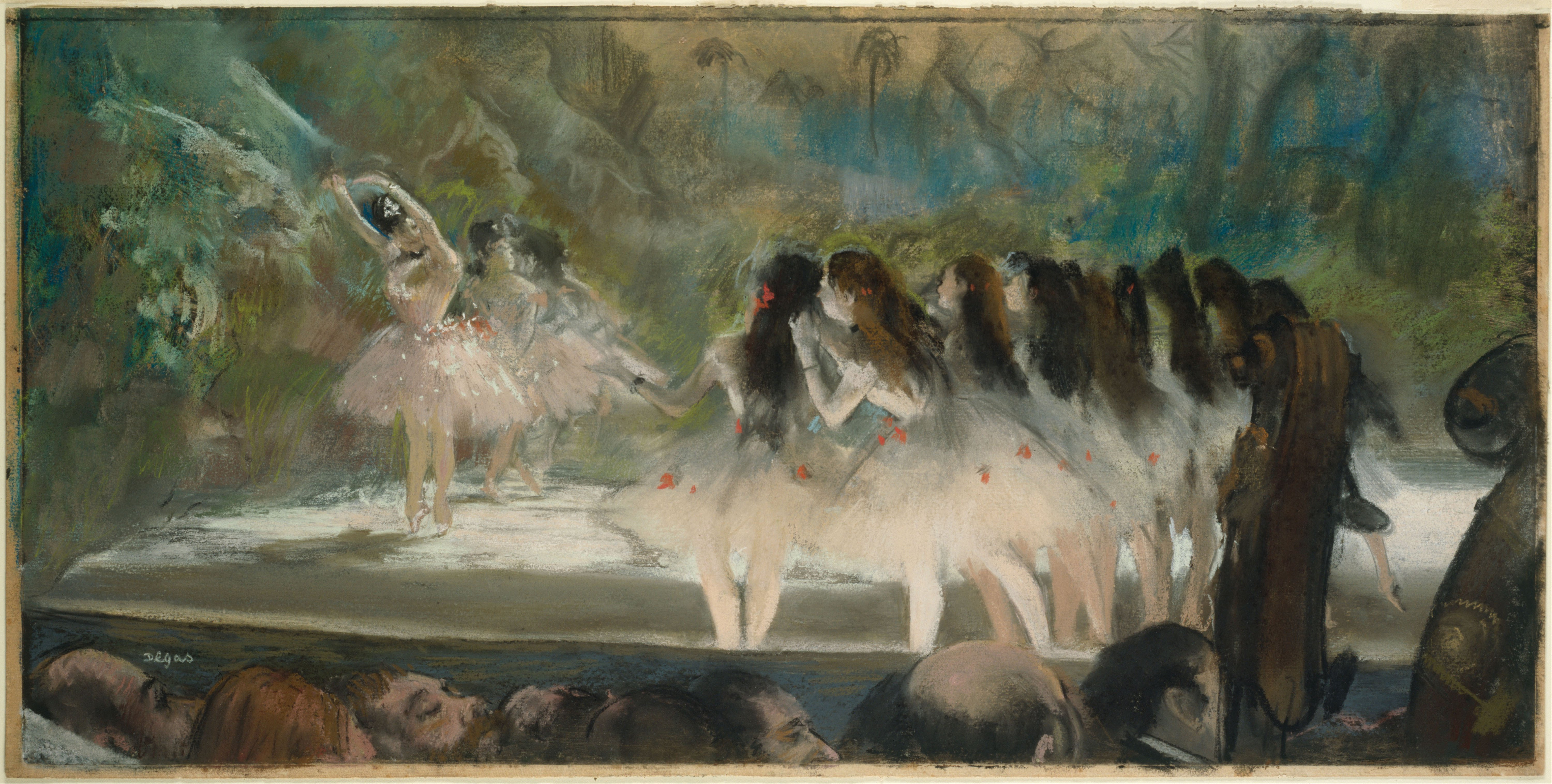 painting paper ballet school by edgar A timeline of key events in the life of artist edgar degas degas chronology clack chalk heightened with traces of white chalk on ivory paper, 346 x 280 mm.