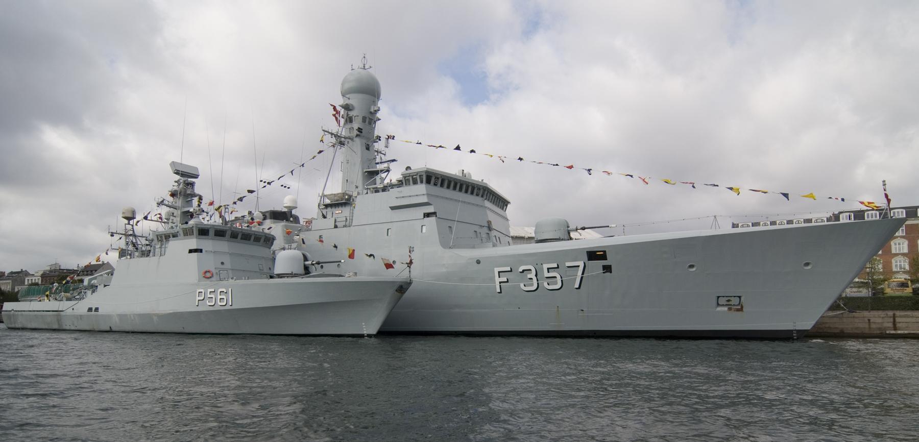 søværnets skibe
