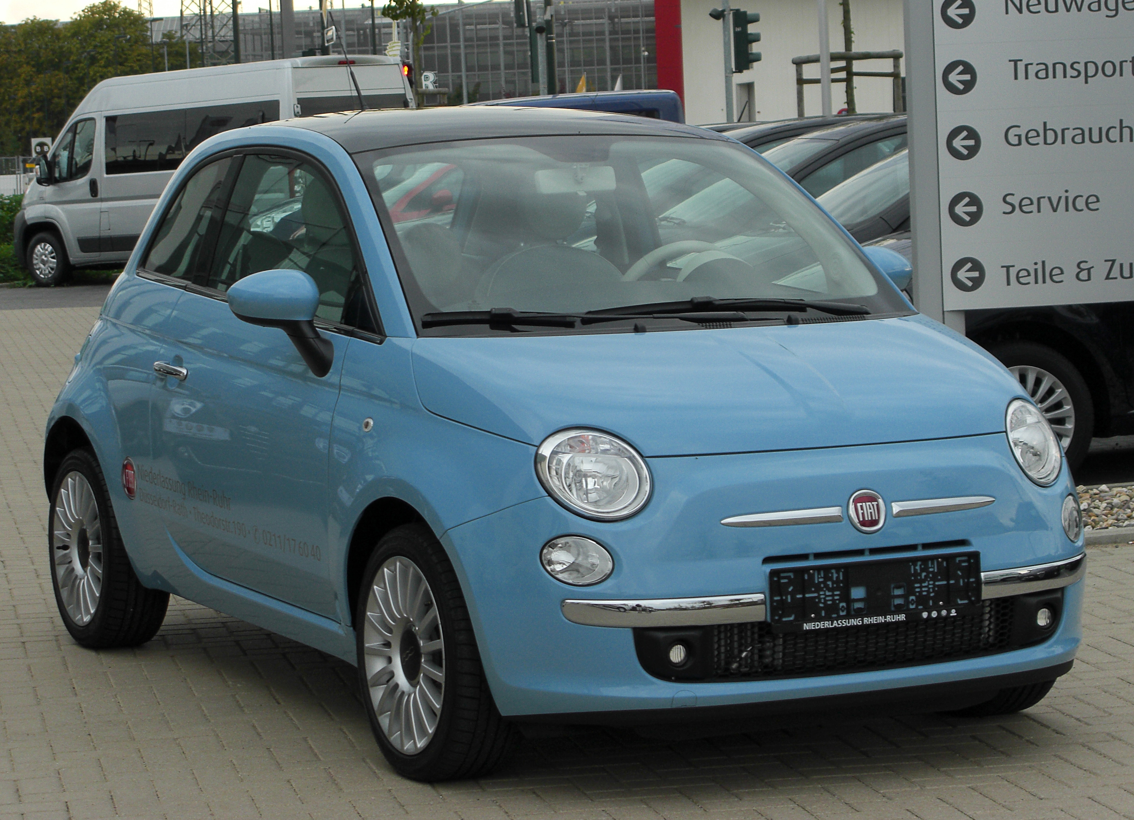 File Fiat 500 Front 20100918 Jpg Wikimedia Commons