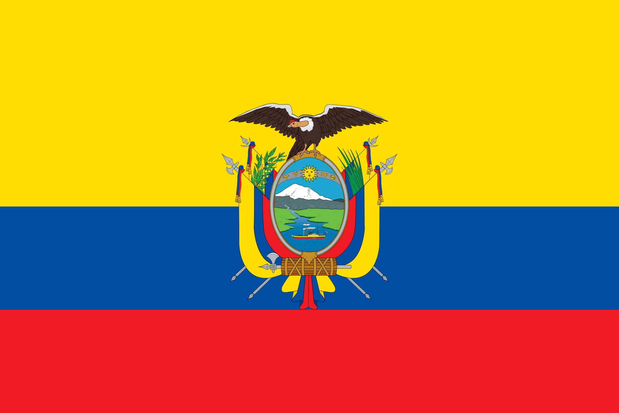 Ecuador Vector Flag File:flag of Ecuador.png