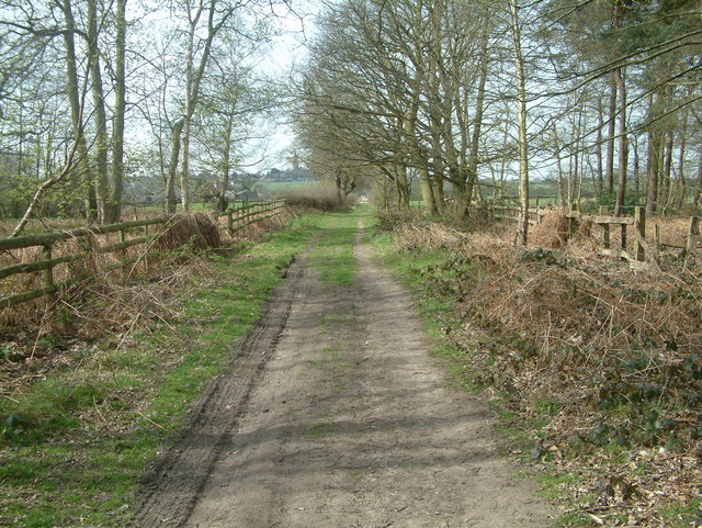 Footpath from Maxstoke Golf Course - geograph.org.uk - 390958