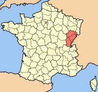 Карта франції з позначенням регіону