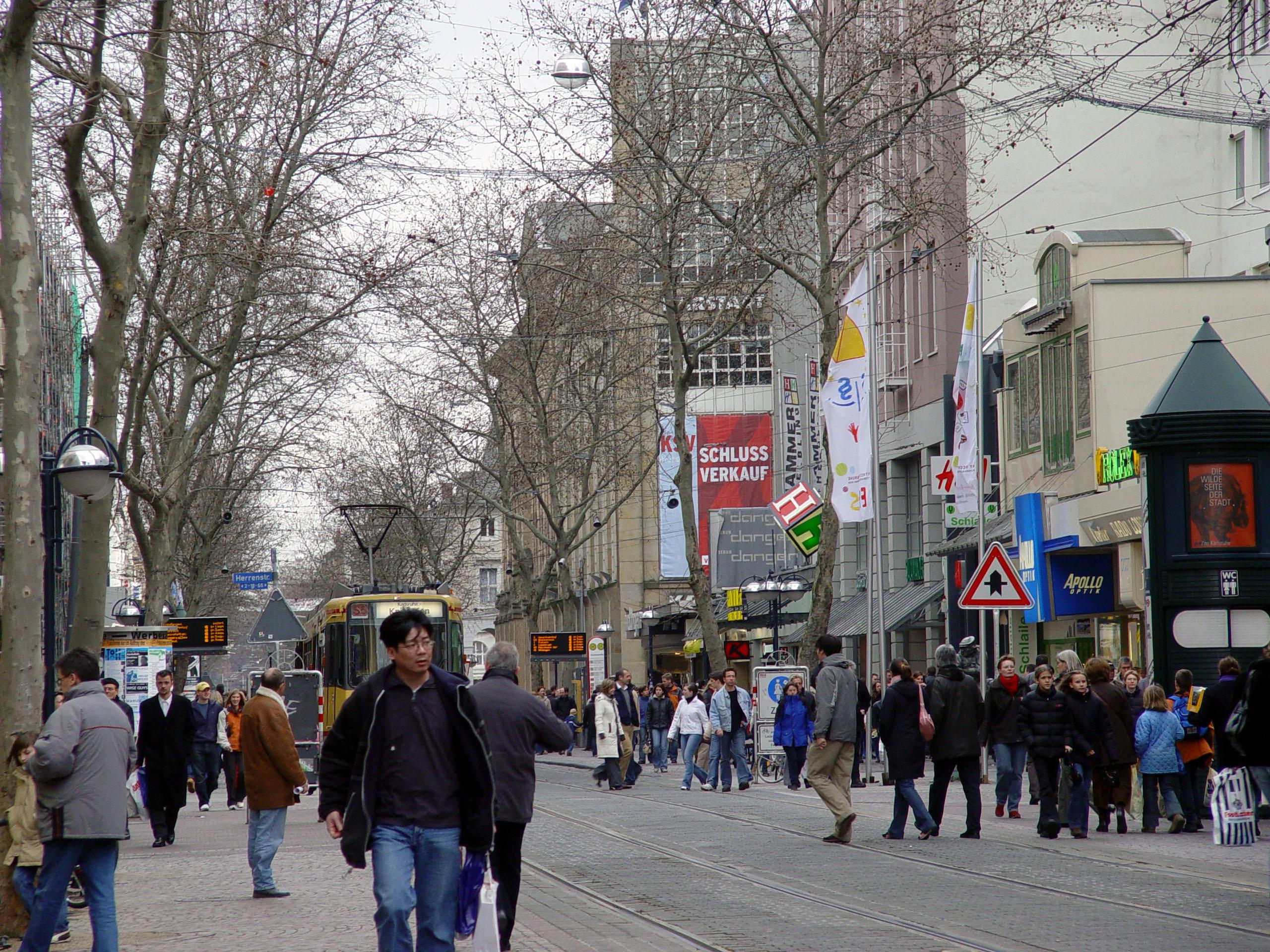 Fußgängerzone Karlsruhe