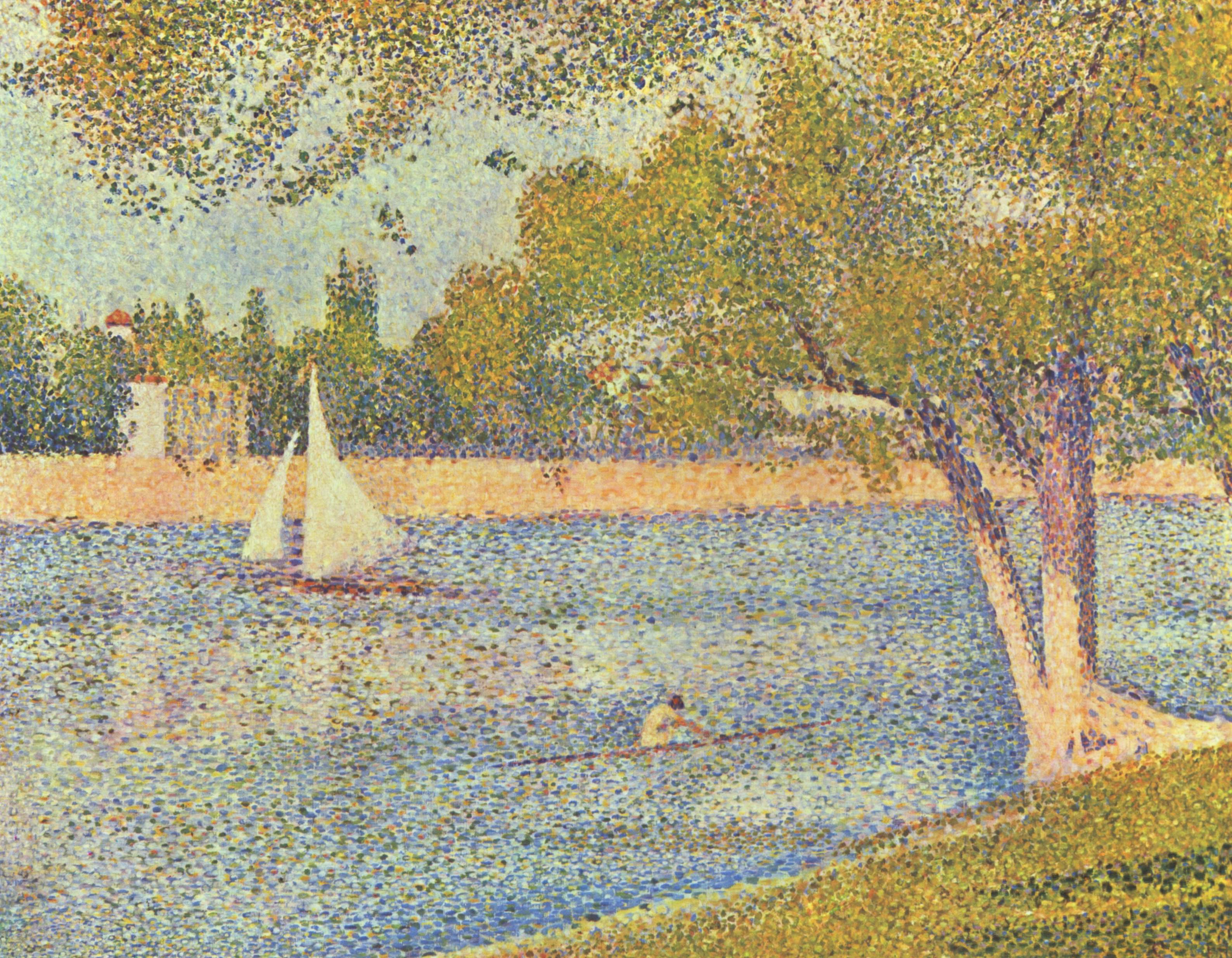 a comparison of the use of pointilism in georges seurat and la grande jattes paintings