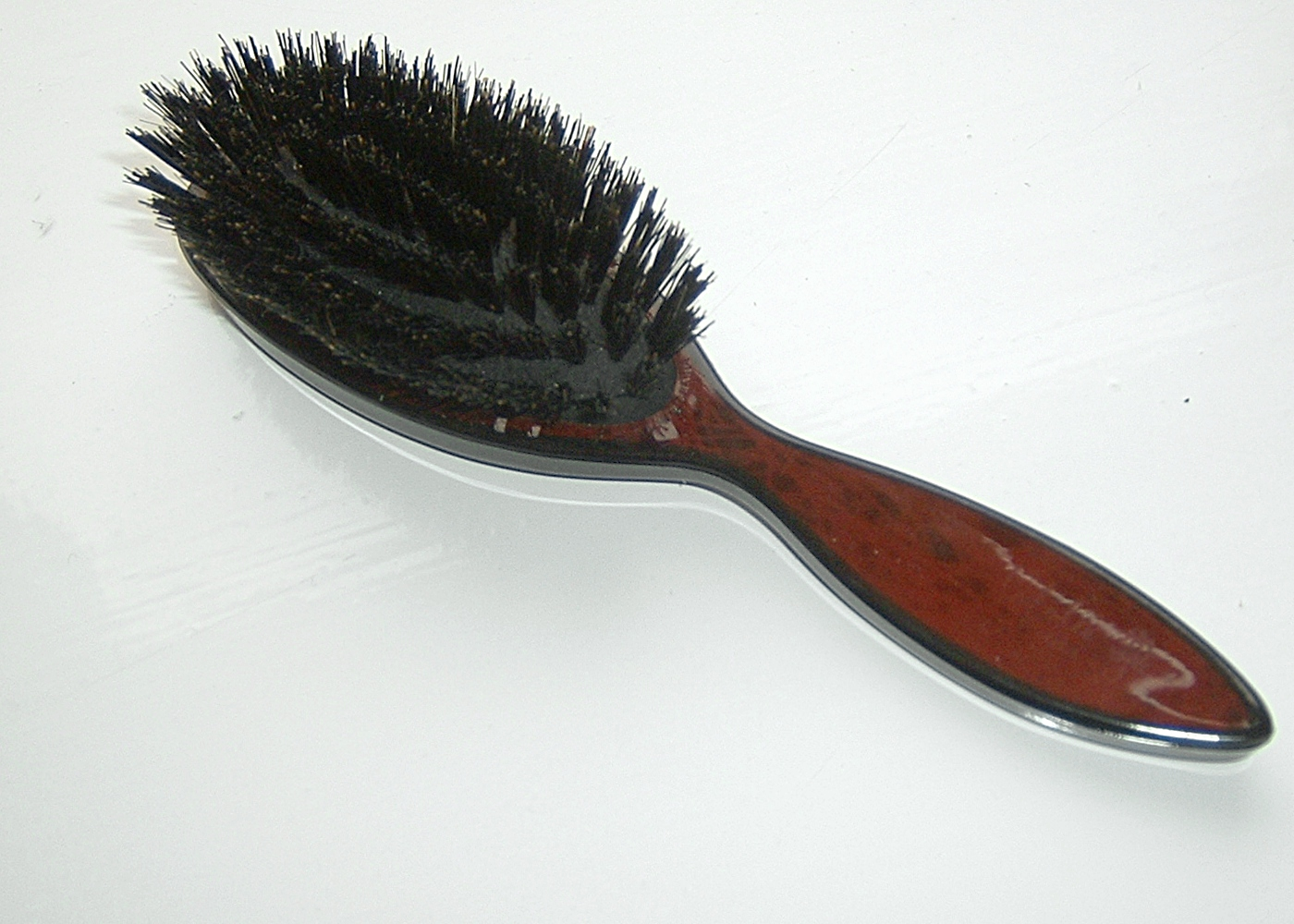 Wooden Hair Brush With Natural Bristles