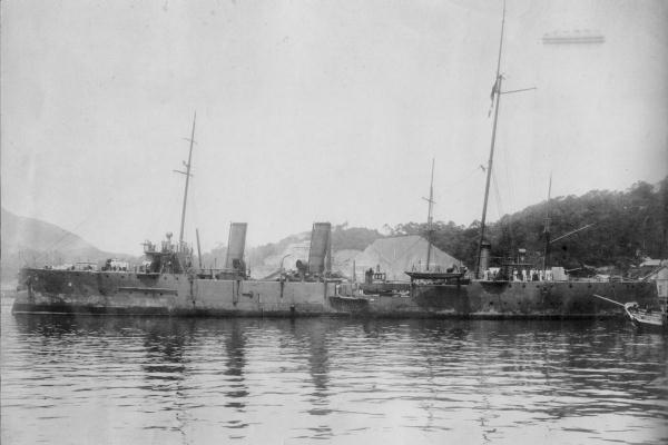 File:IJN despatch vessel CHIHAYA in 1906.jpg