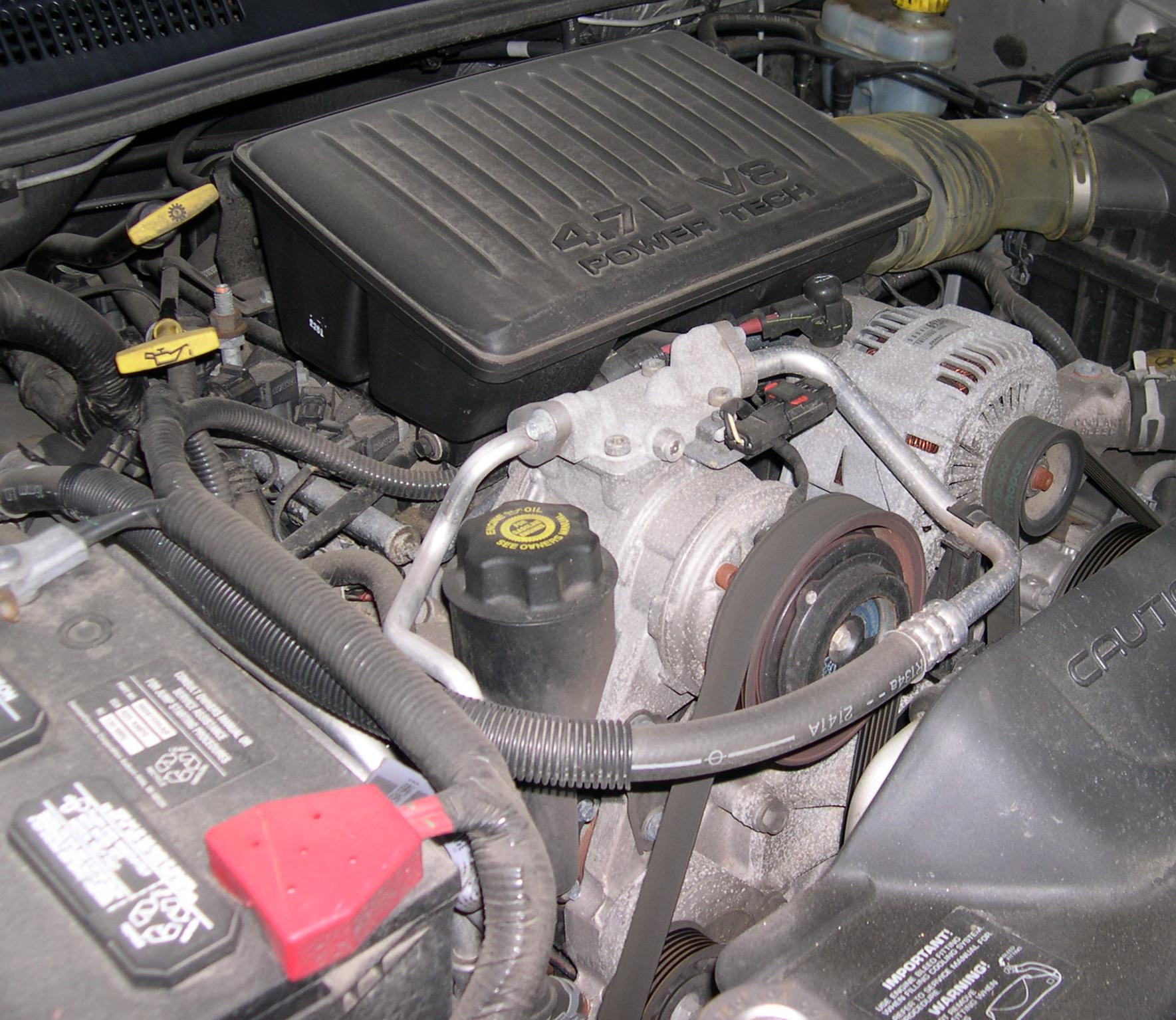 dodge magnum water pump location
