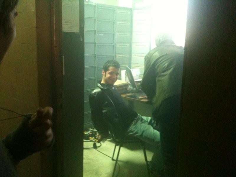 John Sehil sur le tournage de À bout portant le 22 Février 2010.