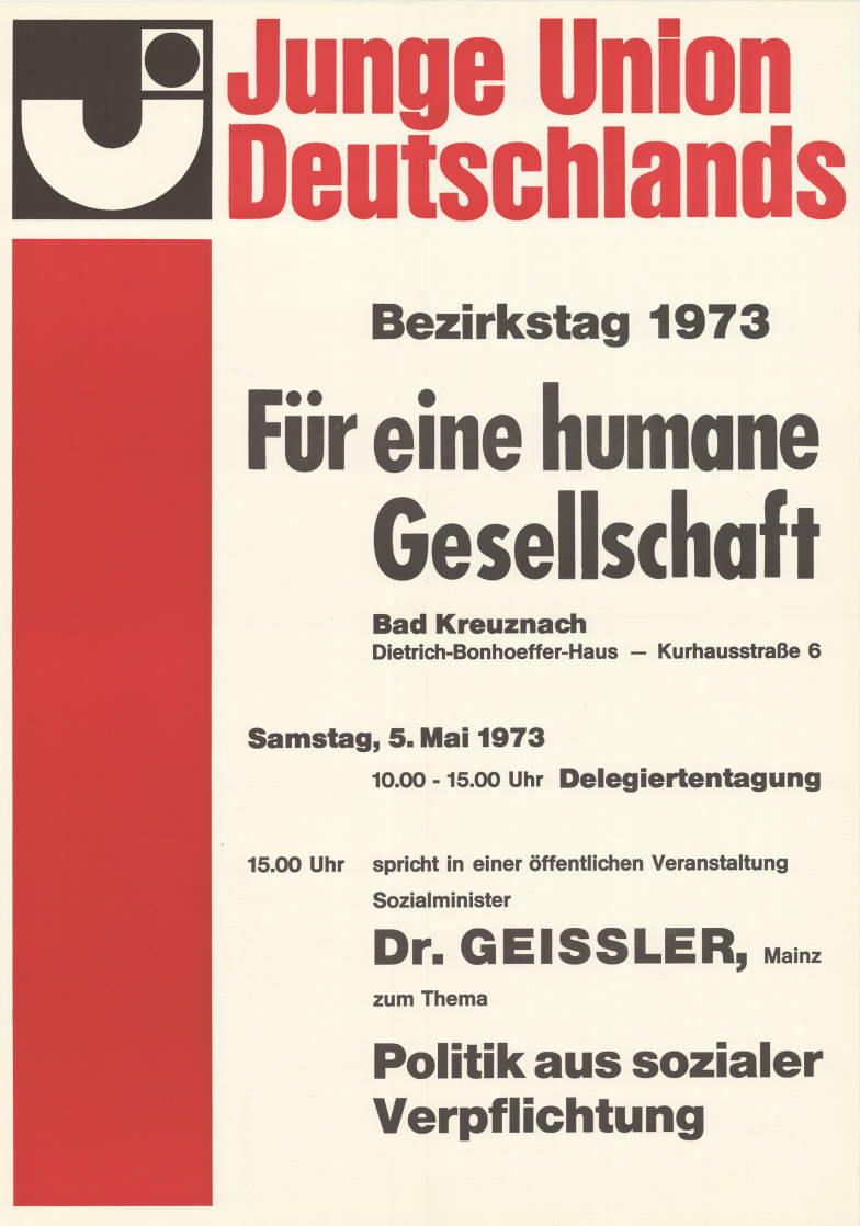 Für eine humane Gesellschaft... ob das damals auch schon so eine Farce war wie heute? By CDU [CC-BY-SA-3.0-de (http://creativecommons.org/licenses/by-sa/3.0/de/deed.en)], via Wikimedia Commons