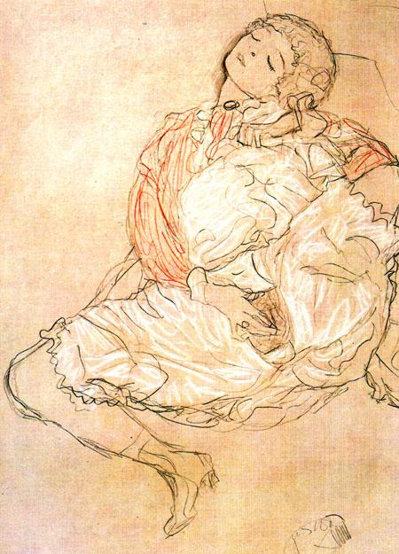 Klimt Mulher sentada