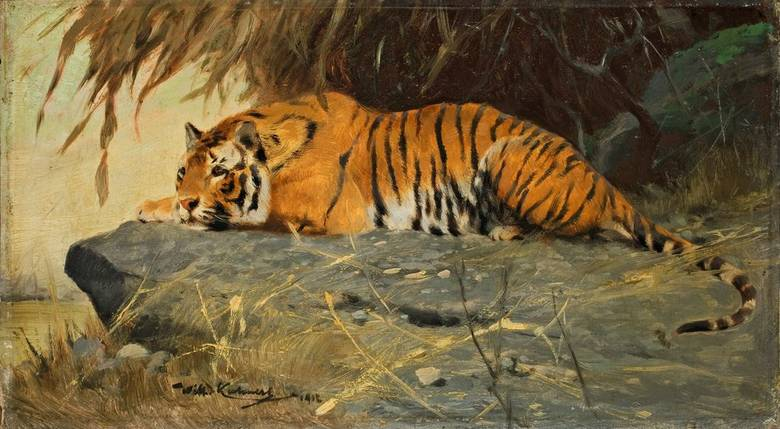 Tiger Oil Painting Abstract
