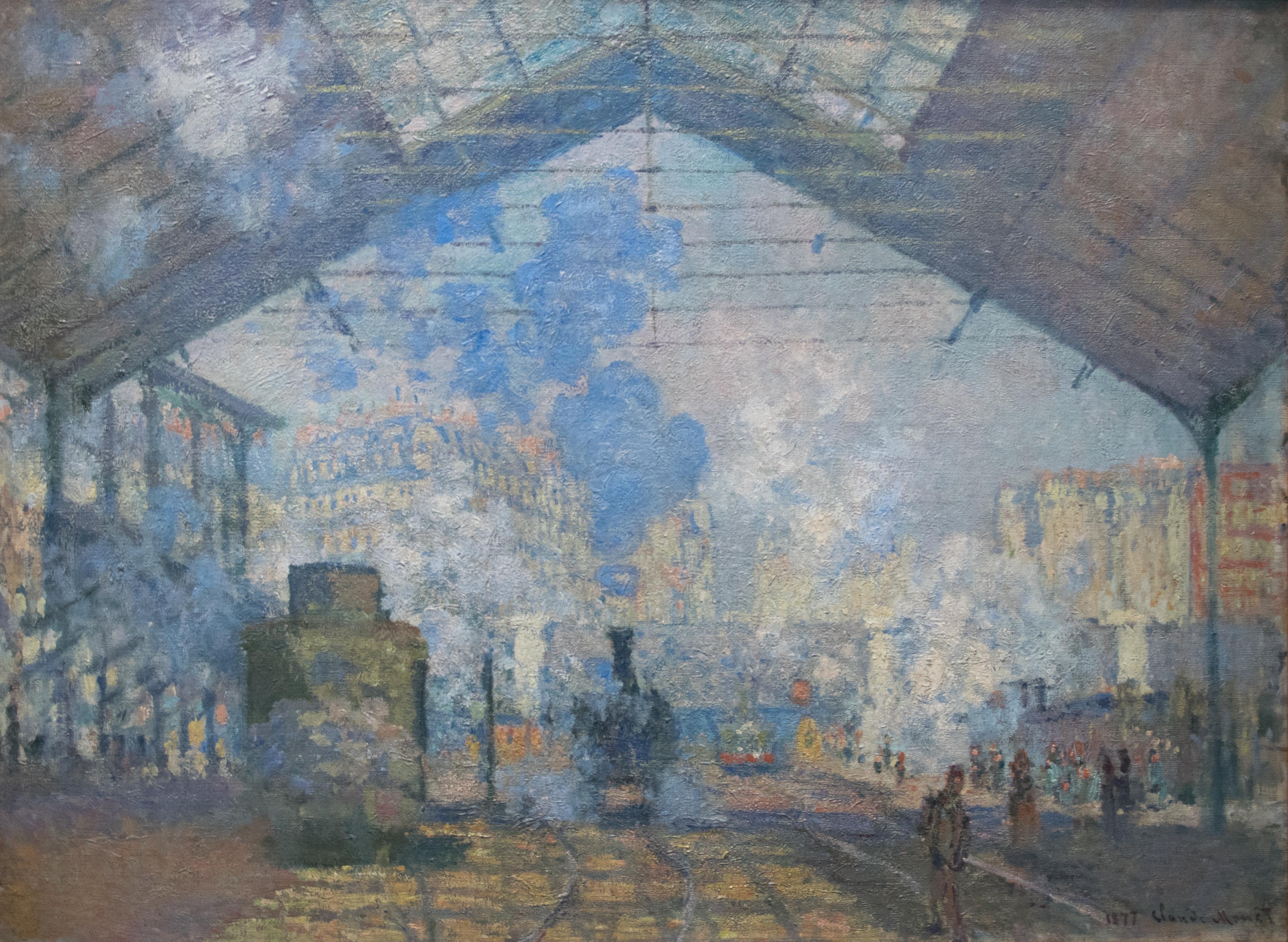 Claude Monet, La stazione Saint-Lazare, 1877