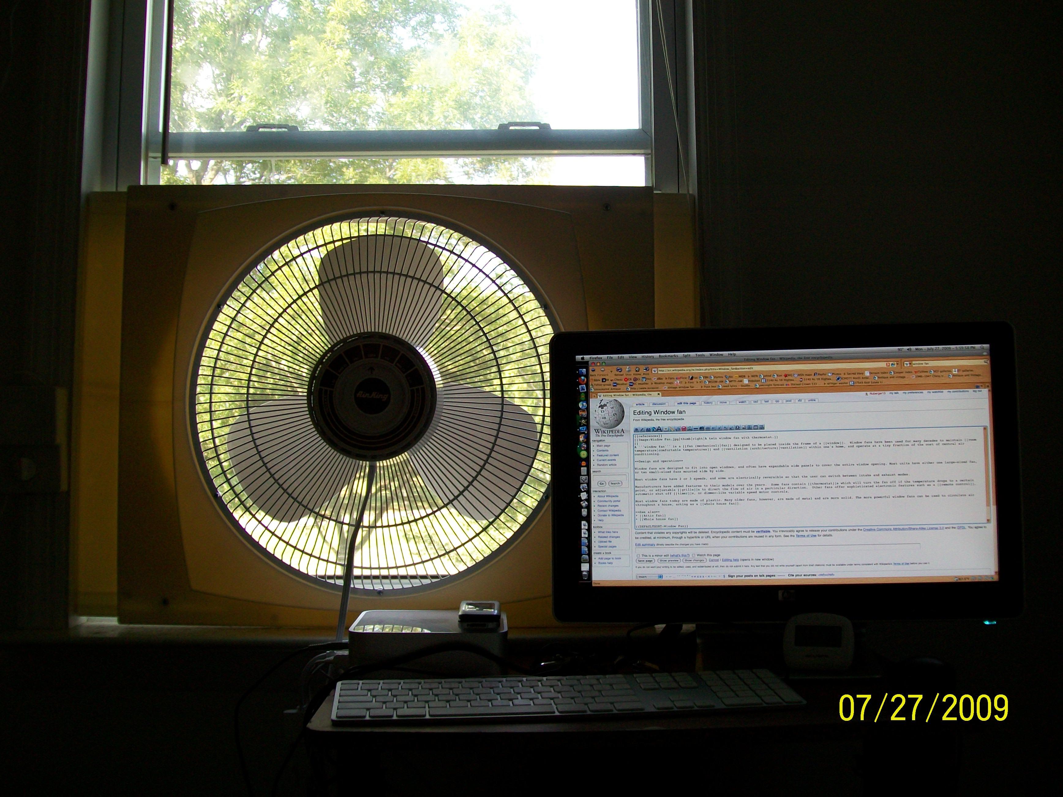 Window Exhaust Fan : Exhaust in window fan