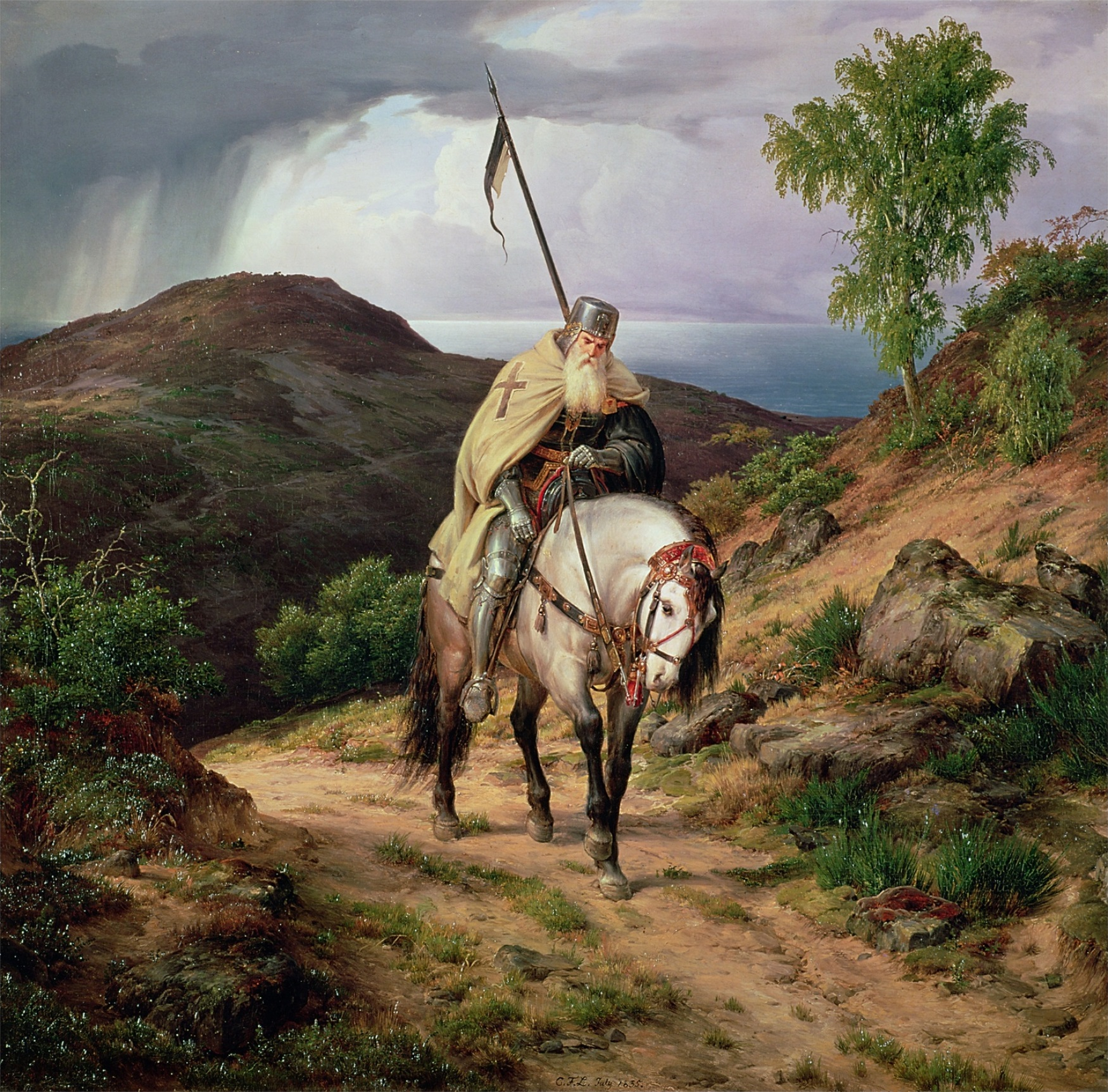 Last Crusader by Karl Friedrich Lessing (1835)