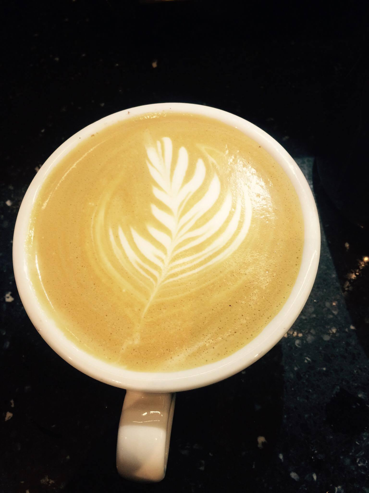 File:Latte art in the style of a feather jpg - Wikipedia