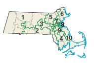 Massachusetts districts in these elections
