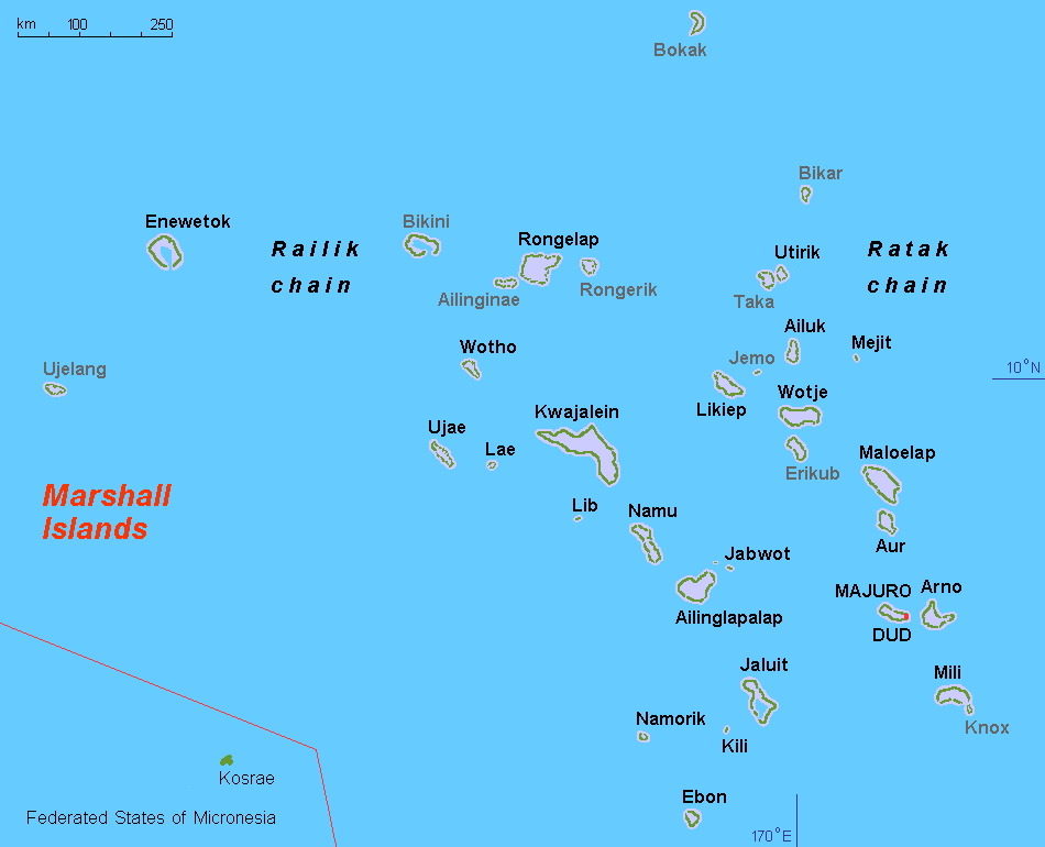 Marshall Islands Map Locator For Raft Floating Distance