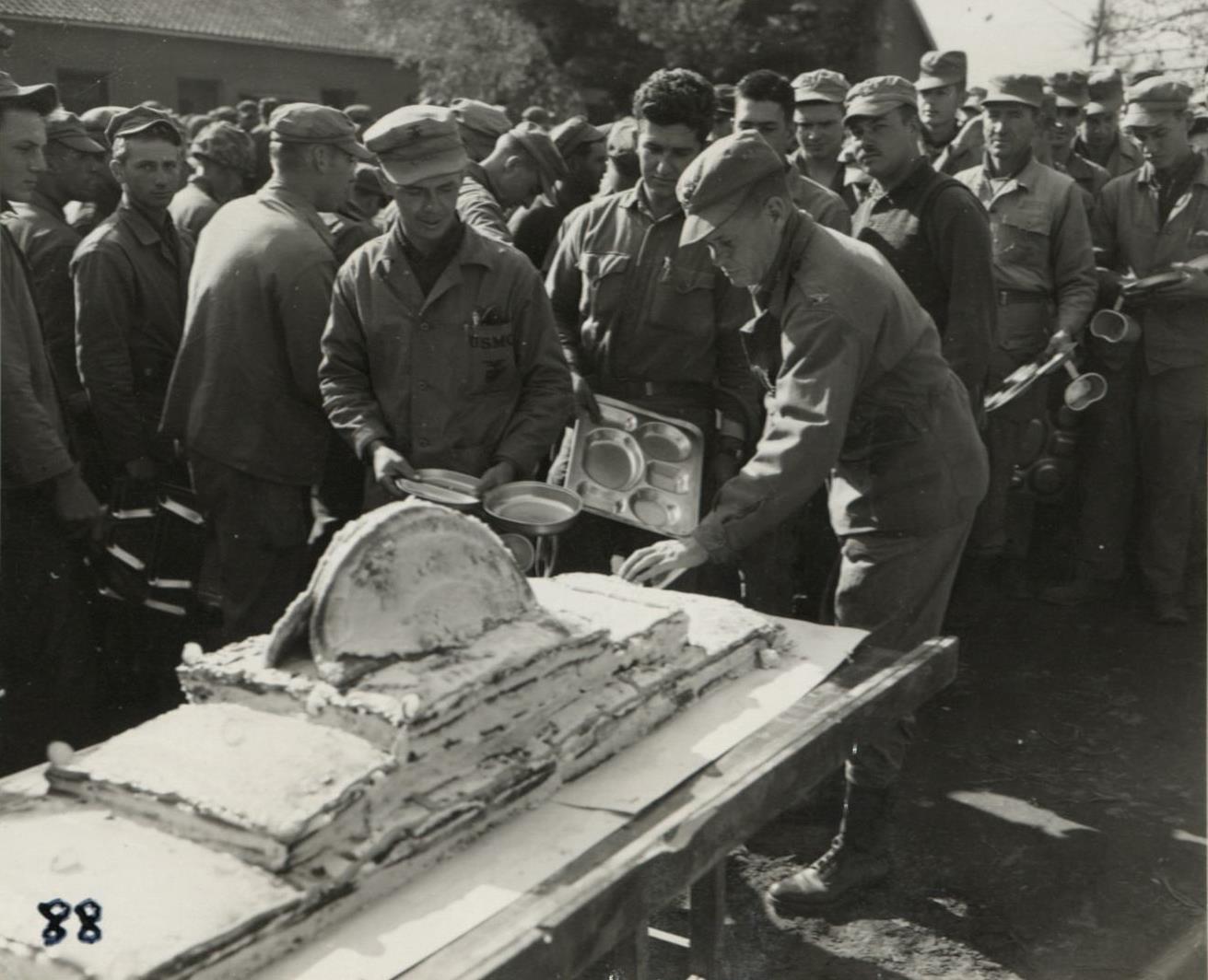 Marine Corps Birthday Ceremony Cake Cutting