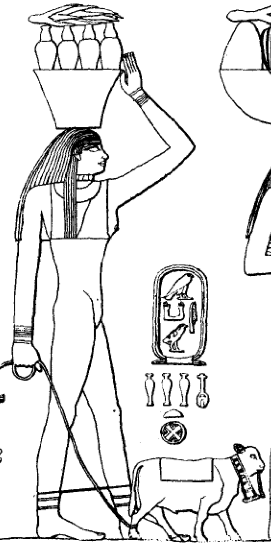 Personified agricultural estate of Menkauhor, tomb of Ptahhotep, Saqqara Menkauhor agricultural estate.png