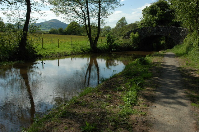 Monmouthshire and Brecon Canal approaching bridge 127 - geograph.org.uk - 1325154