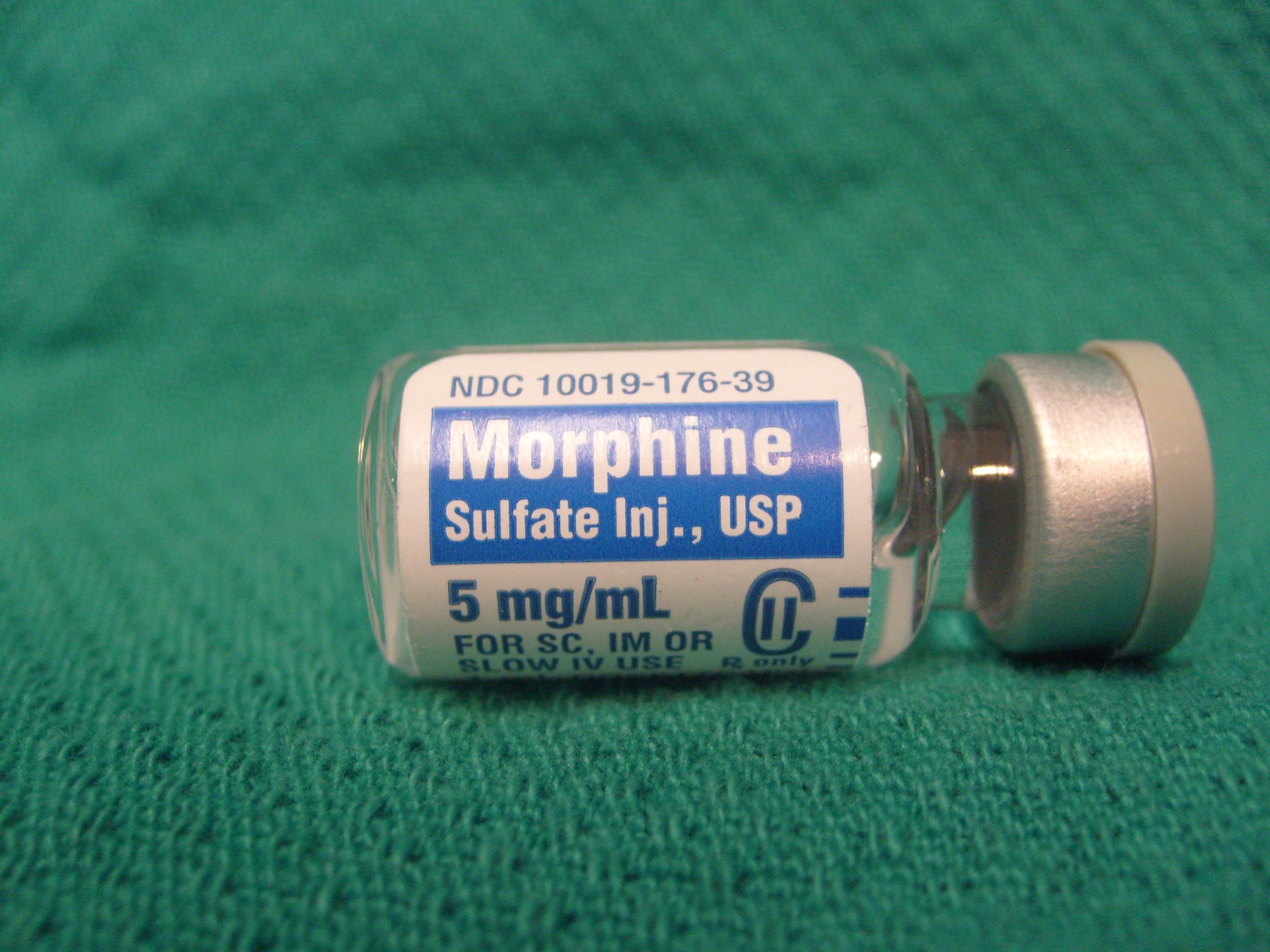 Resultado de imagen de morfina