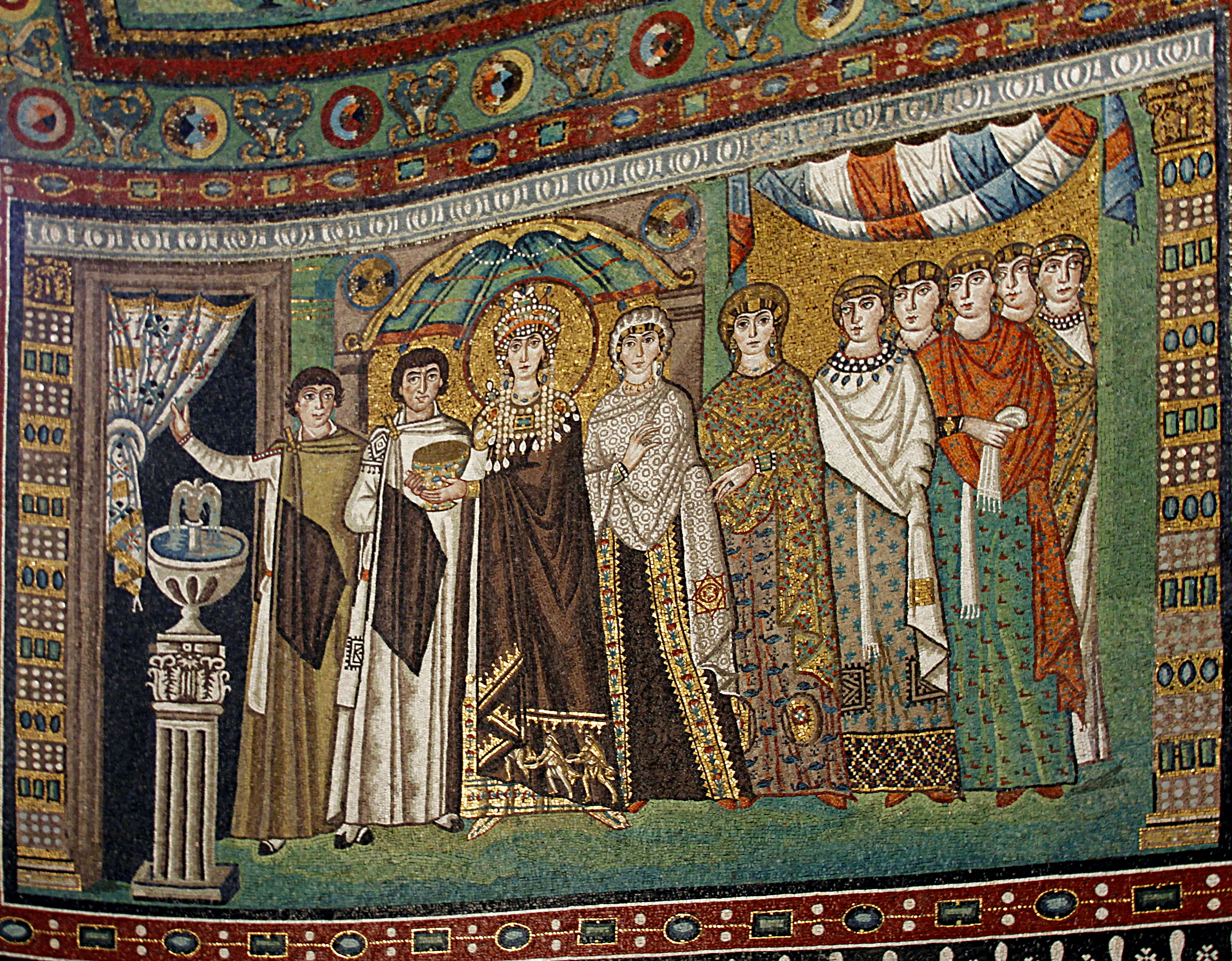 Empress Theodora with attendants