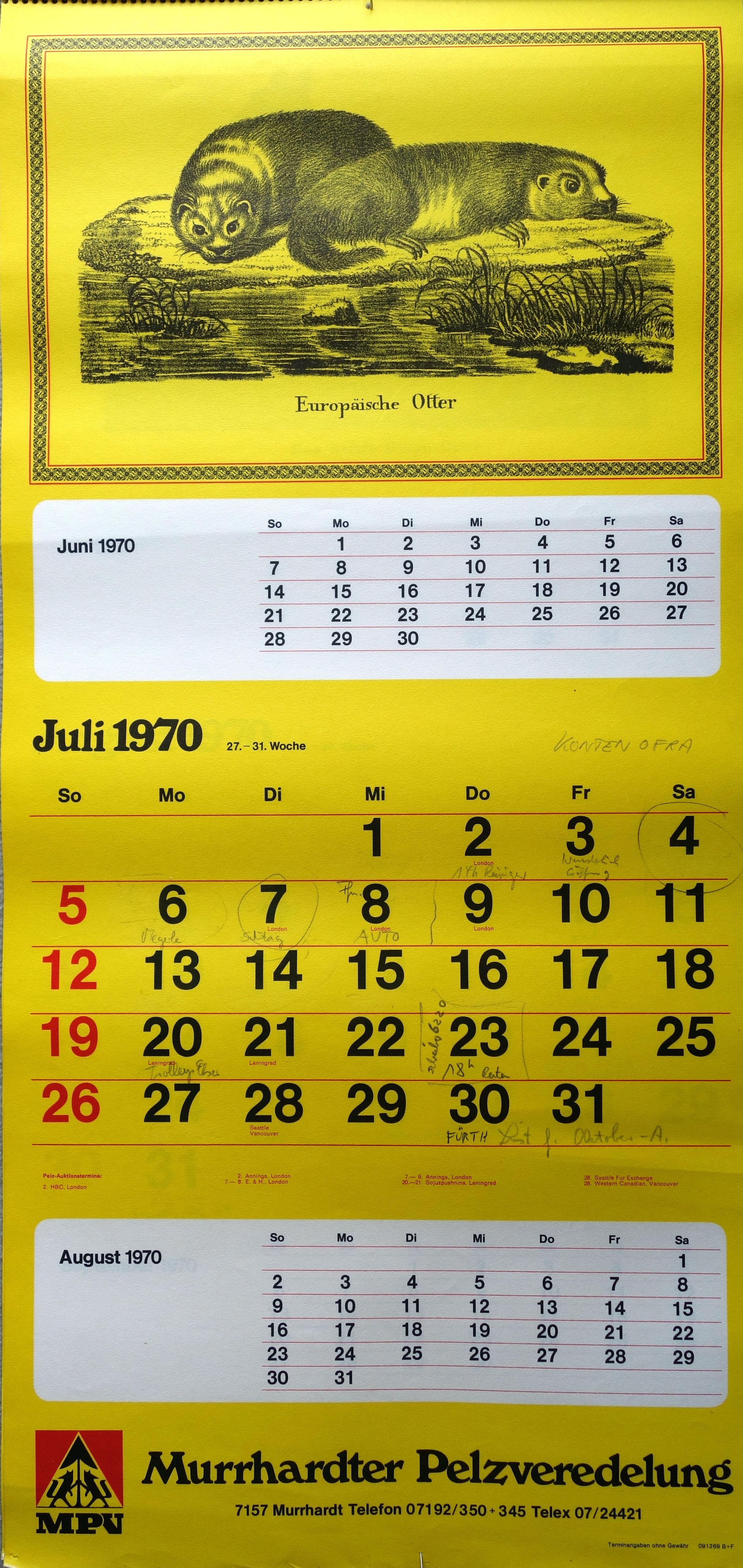 File:Murrhardter Pelzveredlung, Jahreskalender 1970 (07).jpg ...