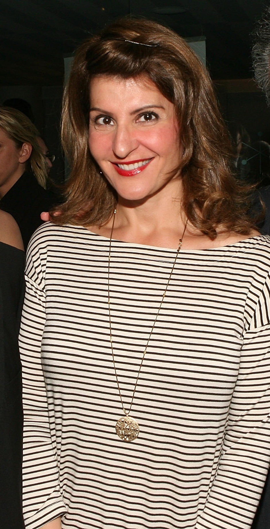 "The 54-year old daughter of father Constantine ""Gus"" Vardalos and mother Doreen , 168 cm tall Nia Vardalos in 2017 photo"