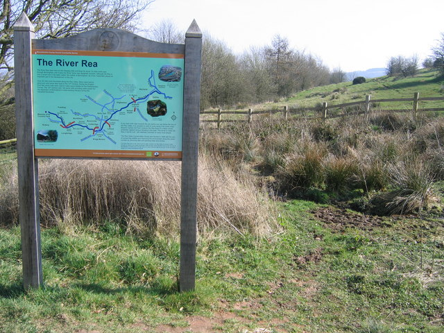 Notice Board at Source of River Rea. - geograph.org.uk - 1213260