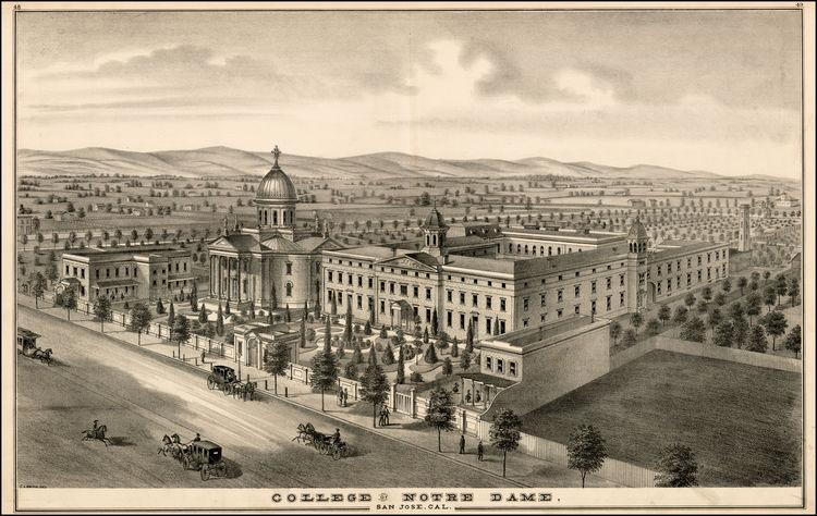 Notre Dame San Jose in 1876 .jpg