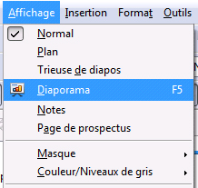 Wikilivres - Comment faire un diaporama sur open office ...