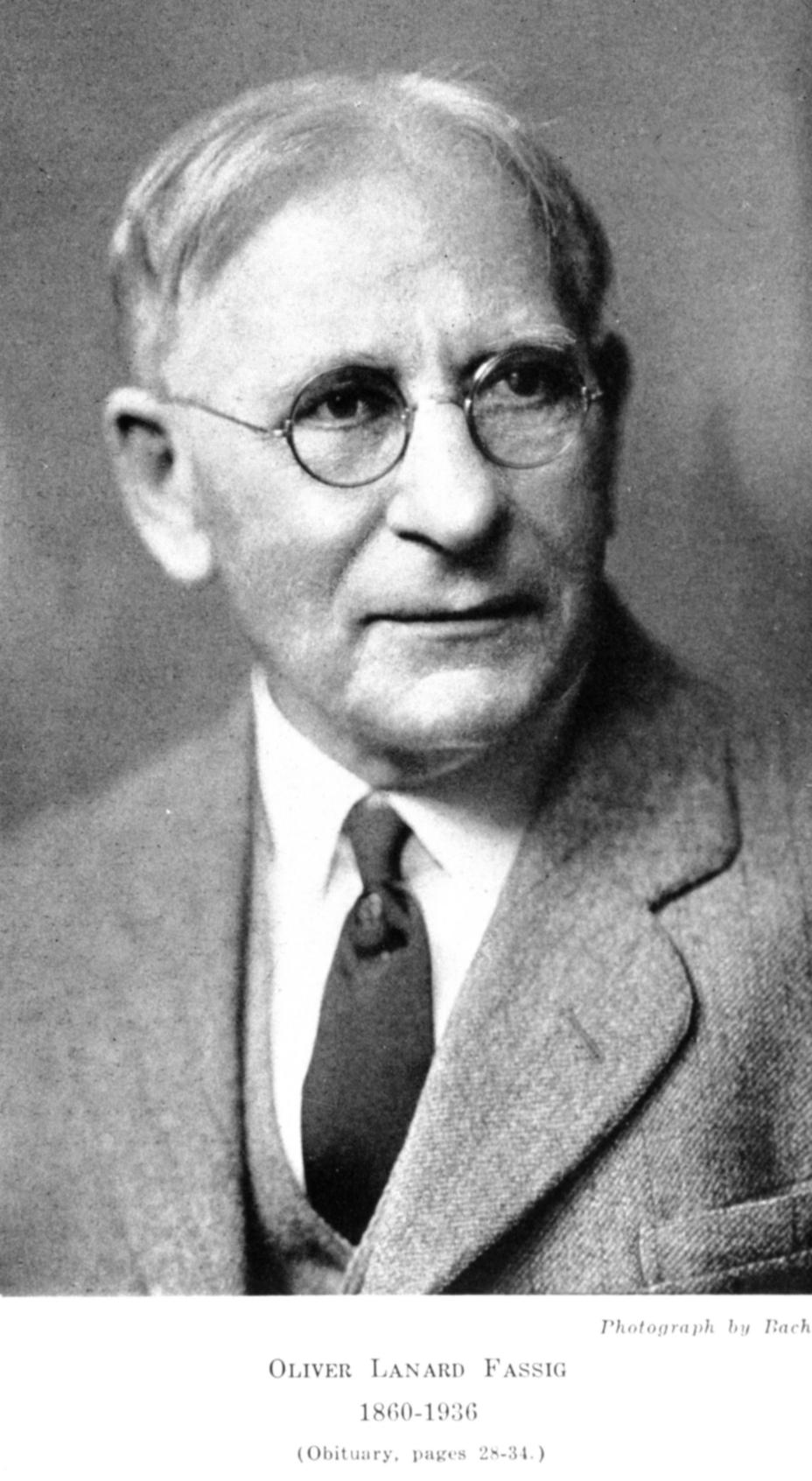 image of Oliver Lanard Fassig