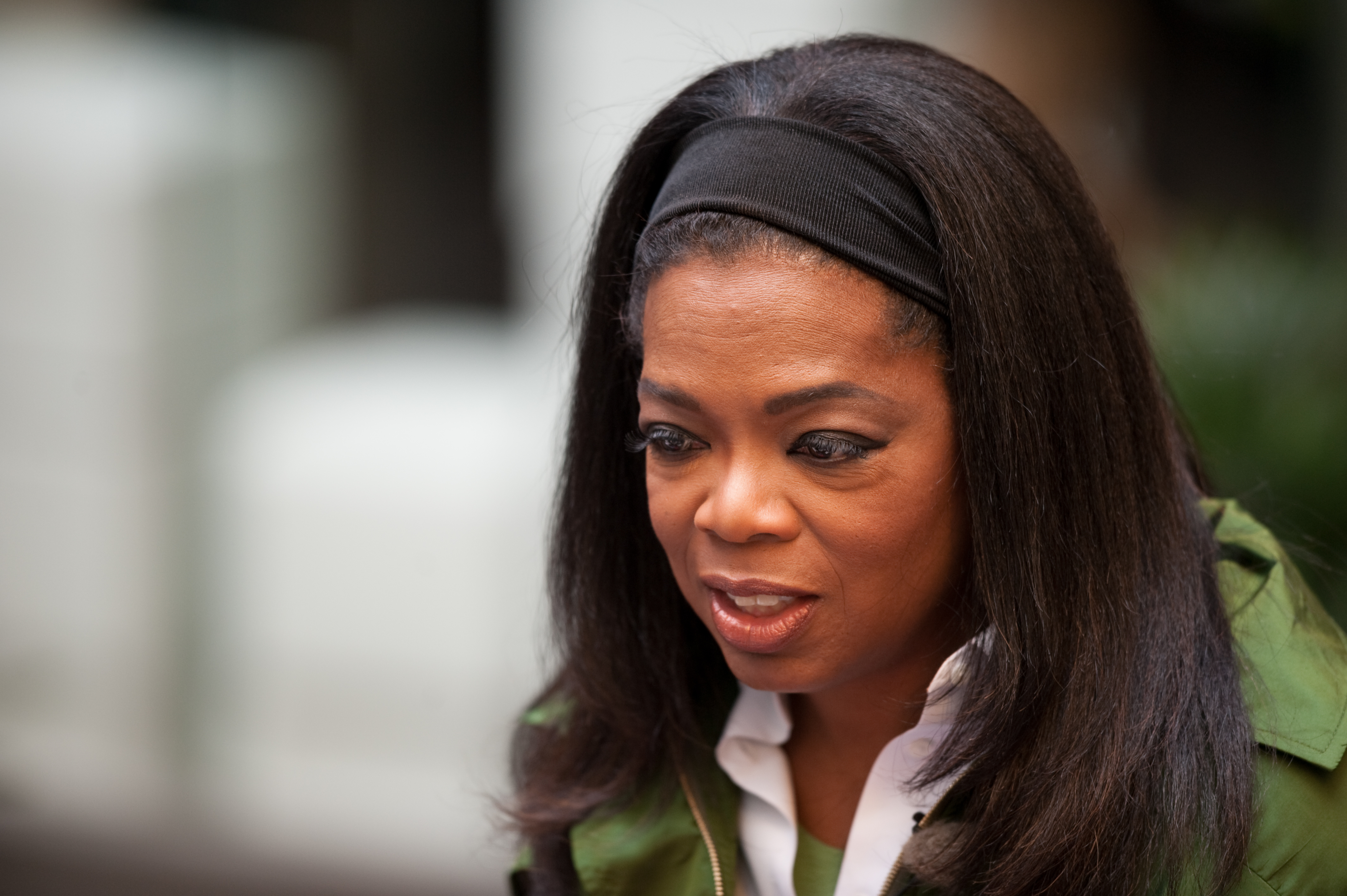 Description Oprah Winfrey in Strøget, Denmark on 30 September 2009