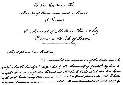 Page 457 letter (The Life of Matthew Flinders).png