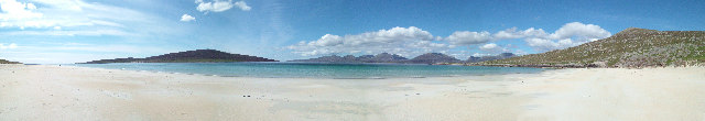 Panorama from Luskentyre Beach - geograph.org.uk - 94360