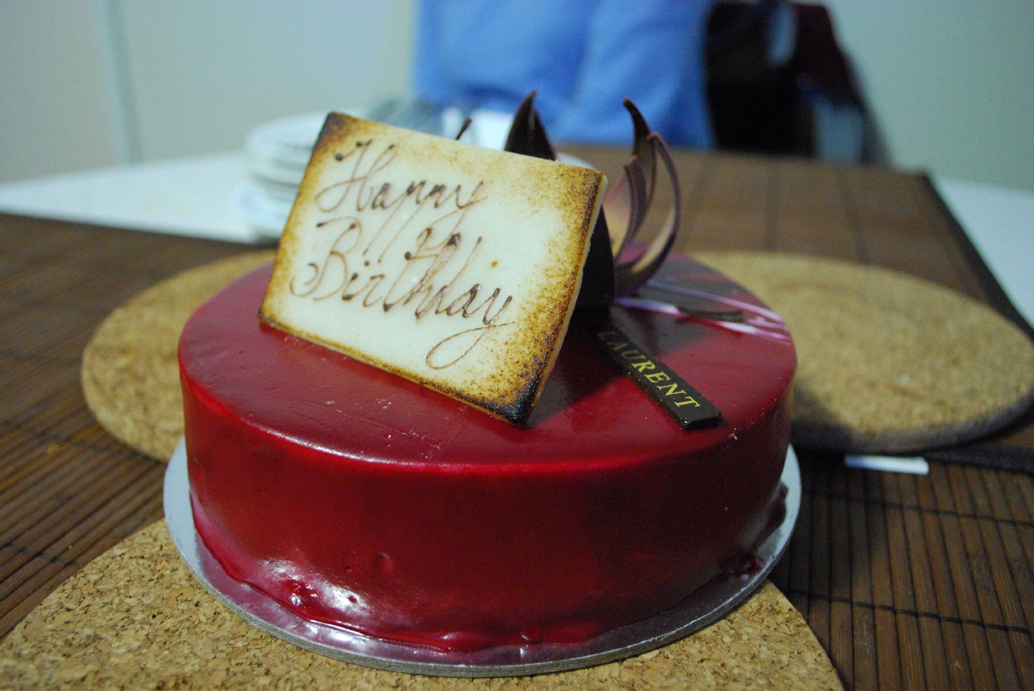 Chocolate Raspberry Marzipan Cake