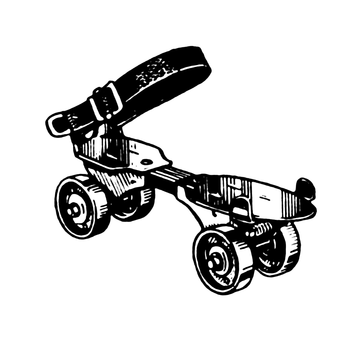 Inline Skate Shoe Attachment Roller