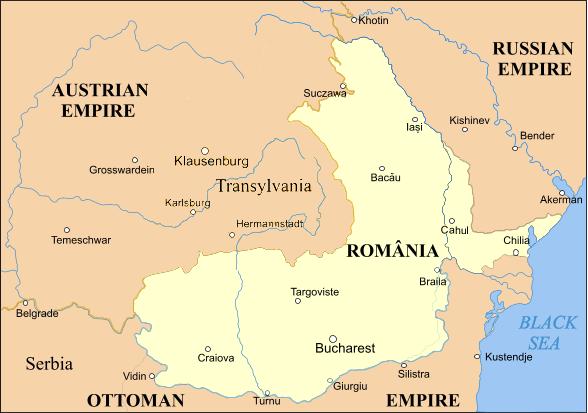 Principatele Unite ale lui Cuza și apoi România lui Carol I, aflate sub suzeranitate otomană (1859-1978). Sursă foto: wikipedia