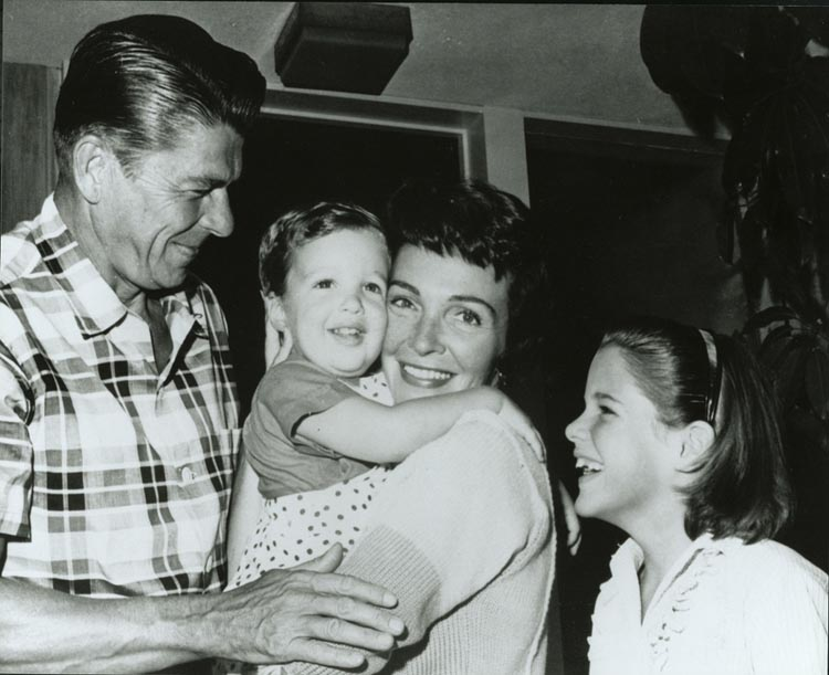 Image result for president reagan family images