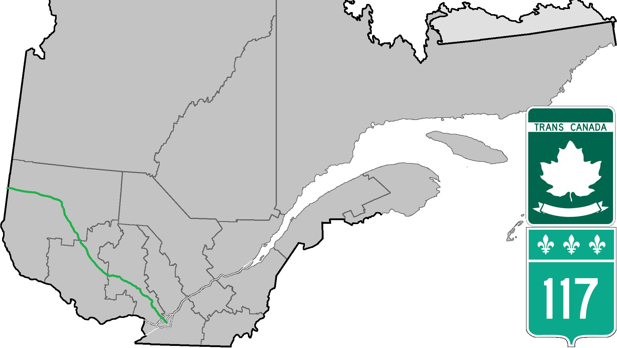 Route 117 (Québec) — Wikipédia