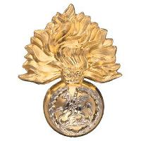 Cap badge of the Fusilier Brigade, now worn by...