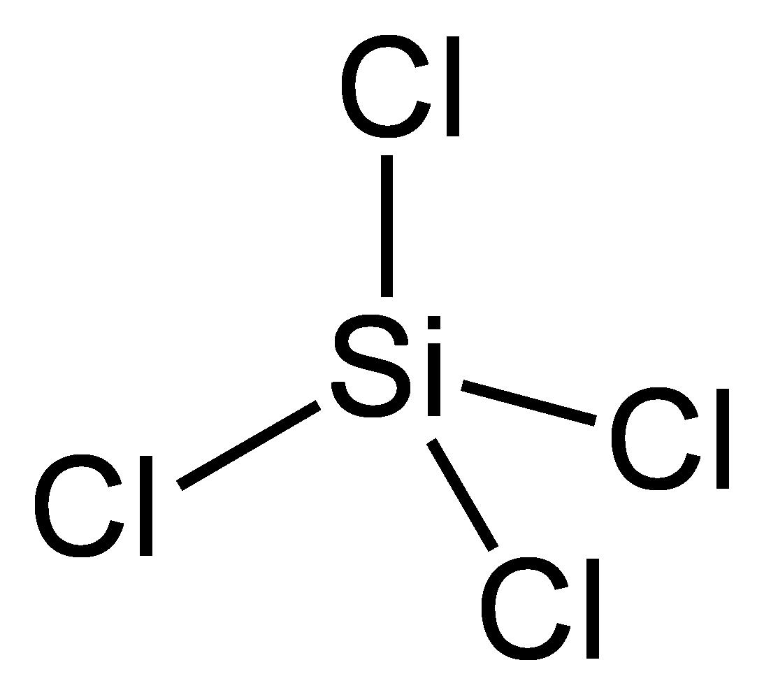 파일 : Silicon-tetrachloride-SiCl4-2D.png-위키 미디어 공용
