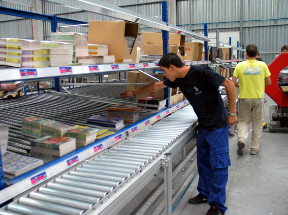 picking inventory from warehouse shelving