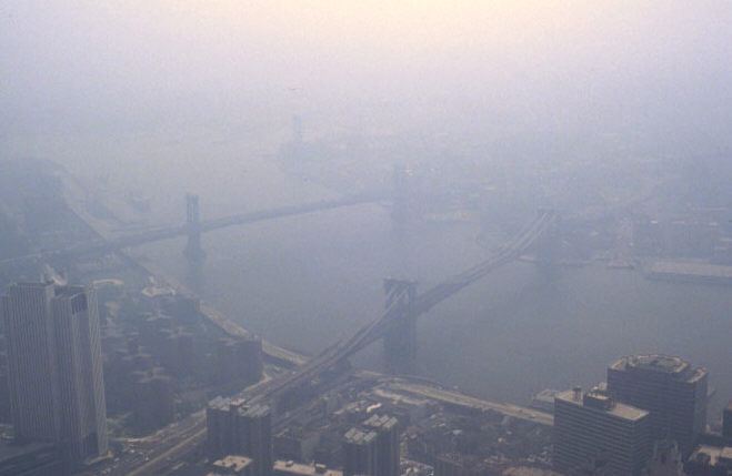 Smog over New York City